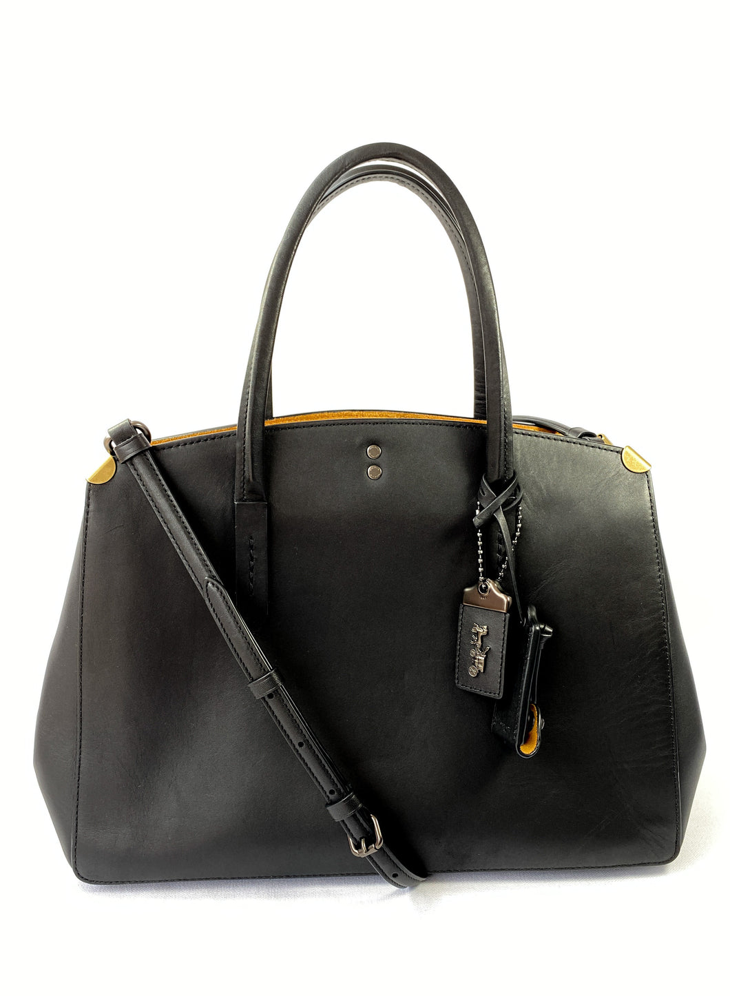Coach black Cooper leather carryall 22821 - My Girlfriend's Wardrobe York Pa