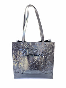 Patricia Nash black leather floral tote - My Girlfriend's Wardrobe York Pa