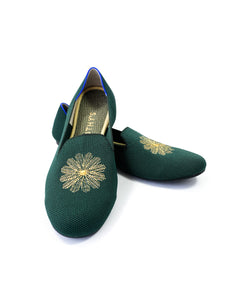 Rothy's retired evergreen embroidered loafers size 10 - My Girlfriend's Wardrobe York Pa