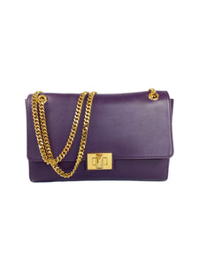 Emilio Pucci purple leather chain bag
