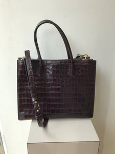 Michael Kors plum croc embossed Mercer tote - My Girlfriend's Wardrobe