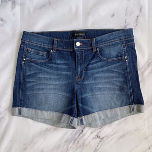 White House Black Market rolled denim shorts size 12