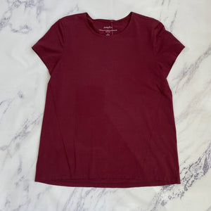 Pure Jill Fit burgundy short sleeve top - My Girlfriend's Wardrobe York Pa