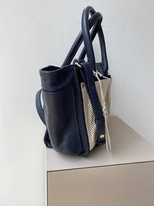 See by Chloe navy and cream leather crossbody