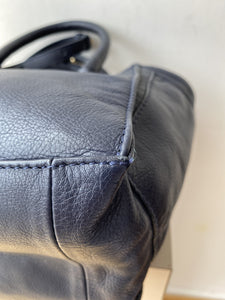 See by Chloe navy and cream leather crossbody - My Girlfriend's Wardrobe York Pa