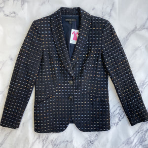 Lafayette 148 navy blazer - My Girlfriend's Wardrobe York Pa