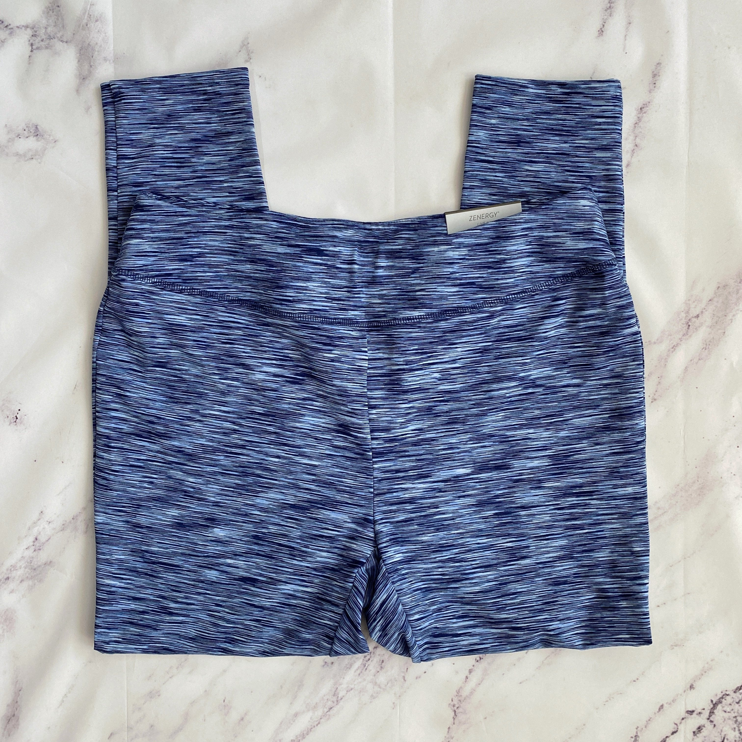 Zenergy by Chico's blue workout ankle leggings size L NWT - My Girlfriend's Wardrobe LLC