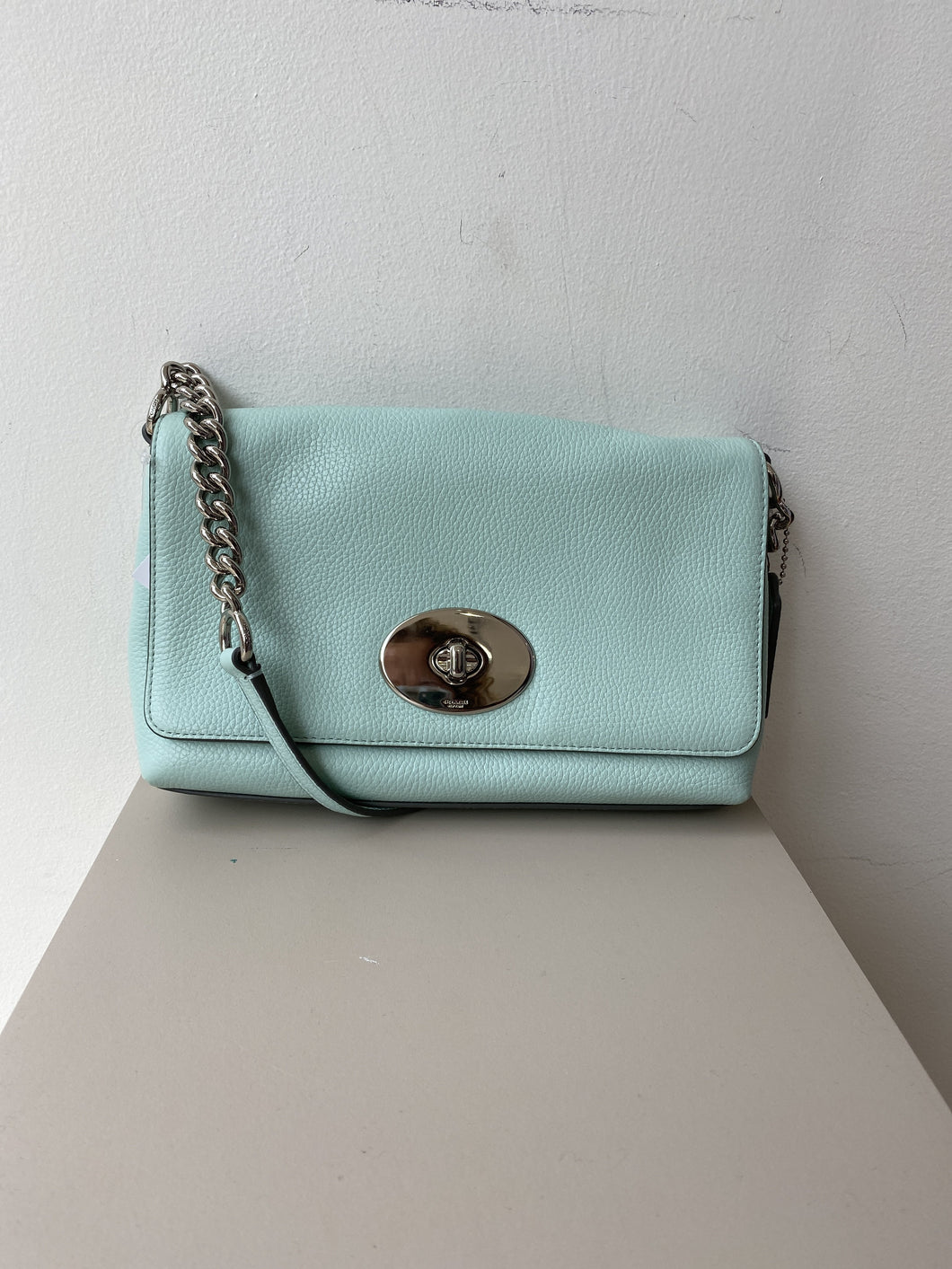 Coach mint leather crossbody 53803 - My Girlfriend's Wardrobe York Pa