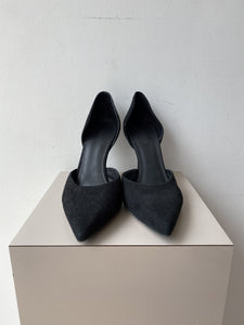 Vince. black suede cutout pumps size 11 - My Girlfriend's Wardrobe York Pa