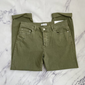 Loft olive green boyfriend jeans NWT - My Girlfriend's Wardrobe York Pa