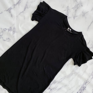 Cable & Gauge black ruffle short sleeve dress NWT - My Girlfriend's Wardrobe York Pa