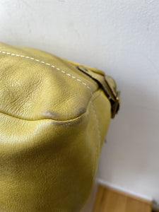 Coach yellow leather shoulder bag - My Girlfriend's Wardrobe York Pa