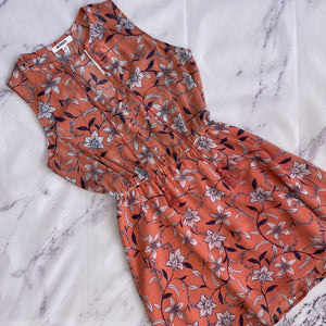 BB Dakota pink, navy, and white floral dress size S