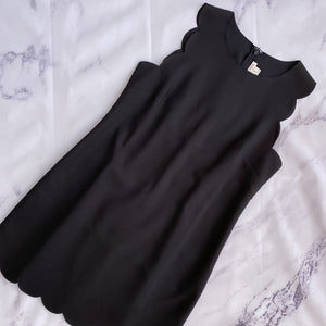 J.Crew black scalloped tank dress size 8 - My Girlfriend's Wardrobe LLC