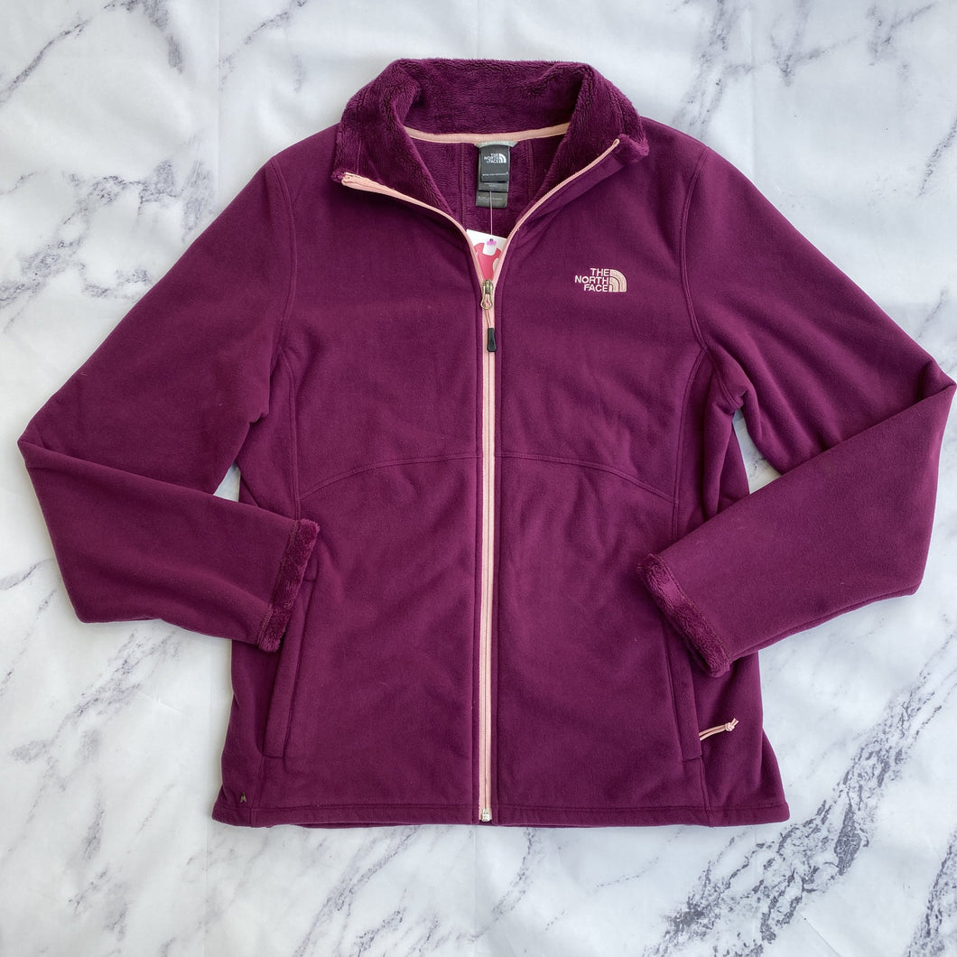 North Face purple zip up