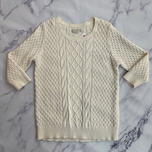 Loft cream knit sweater - My Girlfriend's Wardrobe York Pa