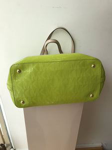Michael Kors lime green patent jet set tote - My Girlfriend's Wardrobe York Pa