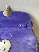 Ralph Lauren Ricky purple suede/lizard shoulder bag - My Girlfriend's Wardrobe York Pa