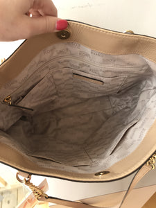 Michael Kors tan patent leather tote - My Girlfriend's Wardrobe York Pa
