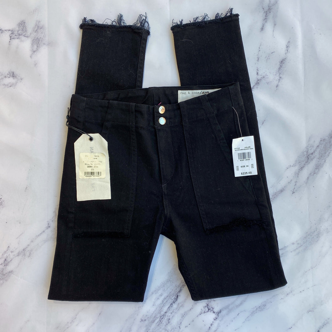 Rag & Bone black denny jeans NWT - My Girlfriend's Wardrobe York Pa
