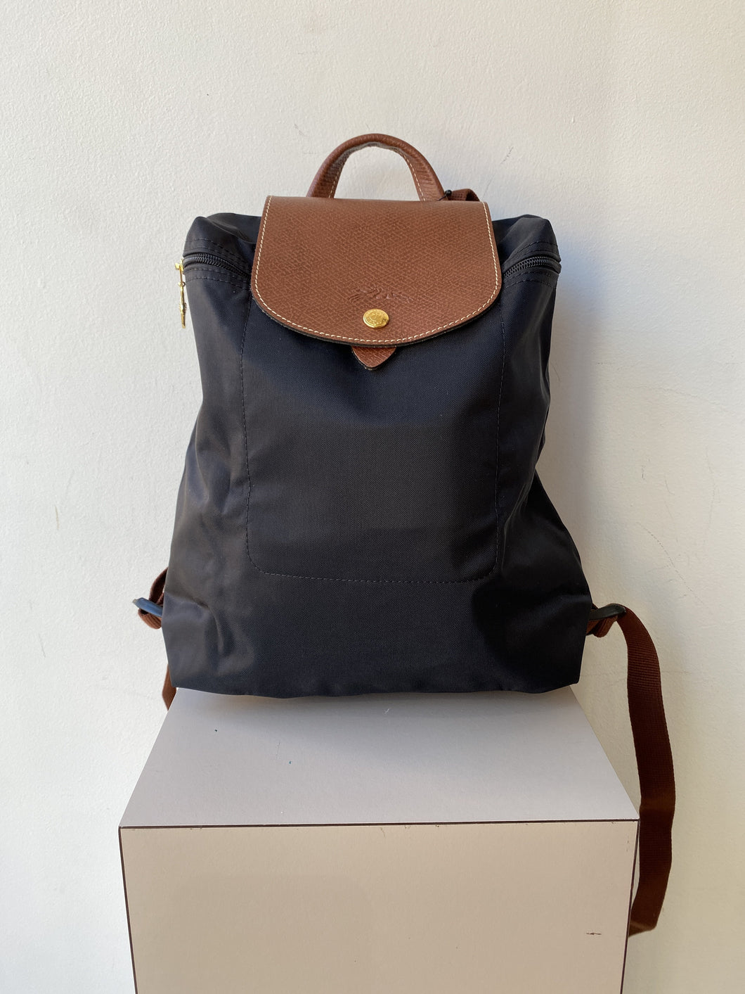 Longchamp Le Pliage black nylon backpack NWT - My Girlfriend's Wardrobe York Pa