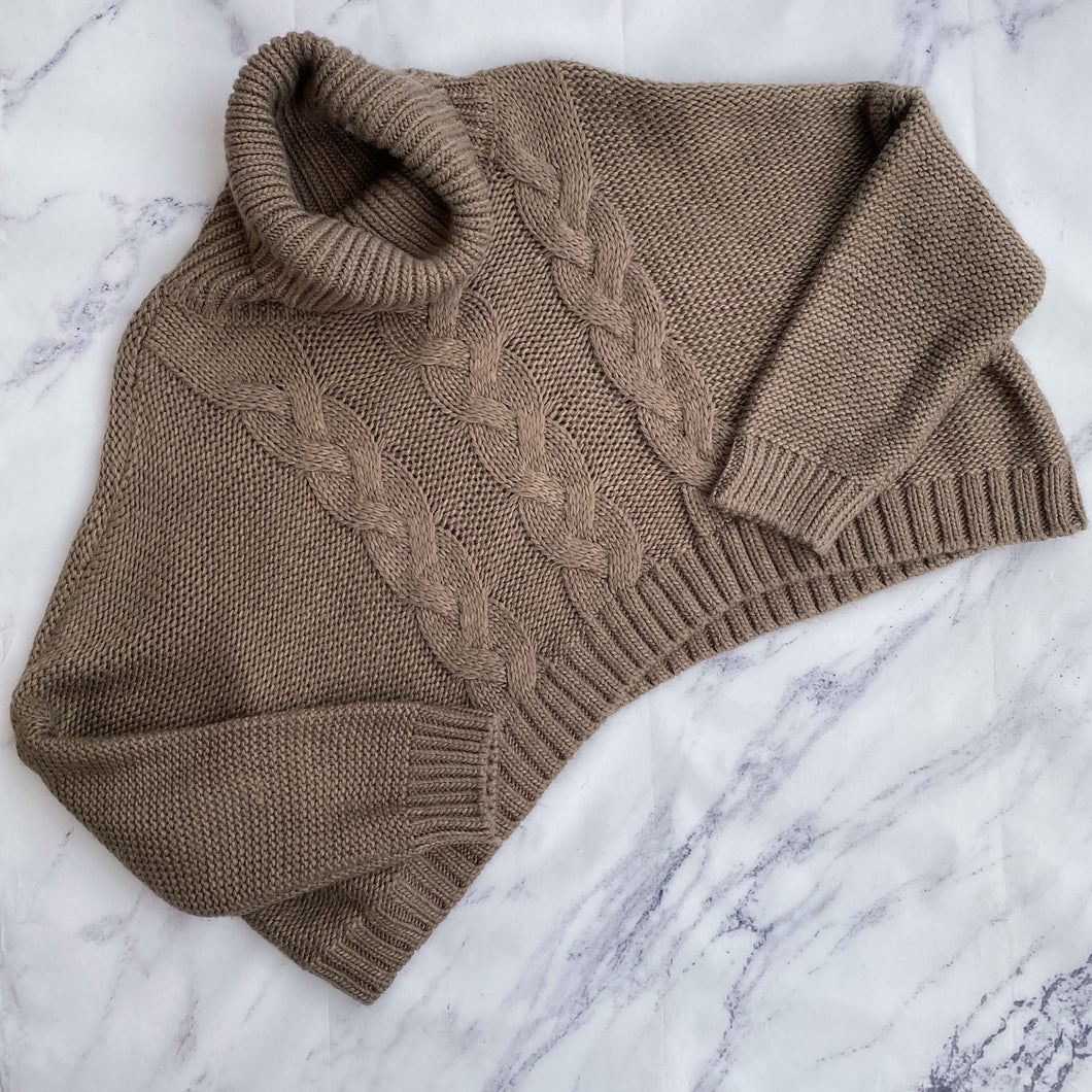 Jack by BB Dakota oatmeal cropped sweater