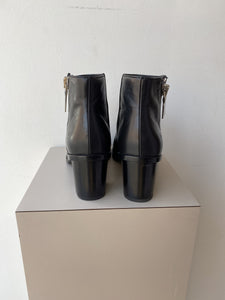 Frye Brielle zip black peep toe boots size 9 - My Girlfriend's Wardrobe York Pa
