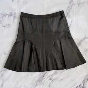 Halogen black leather skirt - My Girlfriend's Wardrobe York Pa