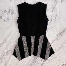 Yigal Azrouel black and white eyelet tank top size 0 - My Girlfriend's Wardrobe LLC