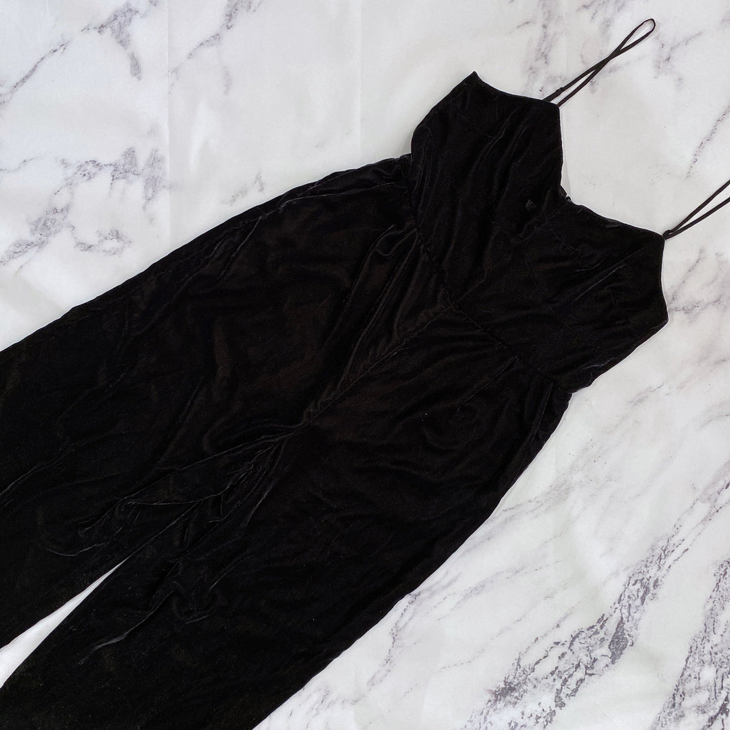 J.Crew black velour jumpsuit NWT - My Girlfriend's Wardrobe York Pa