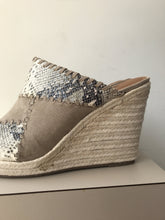 Ruff Hewn taupe snake print wedges size 9 NEW - My Girlfriend's Wardrobe York Pa