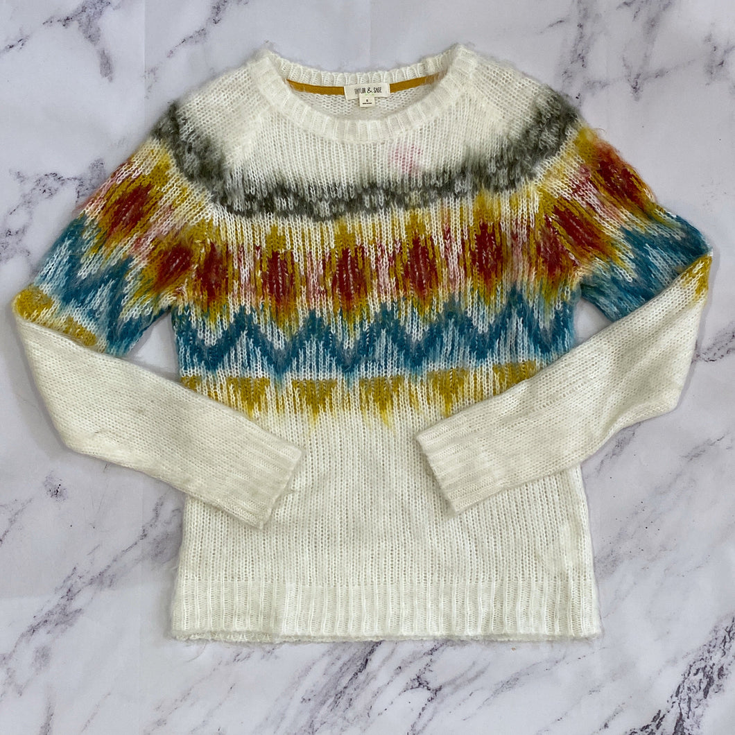 Taylor & Sage multi color sweater size S - My Girlfriend's Wardrobe York Pa