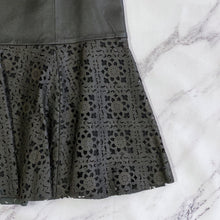 Carlisle black leather eyelet skirt