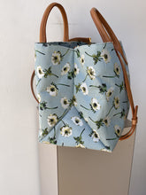 Mansur Gavriel floral silk and leather tote