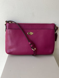 Coach magenta leather crossbody