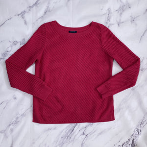 Lands' End hot pink sweater size M