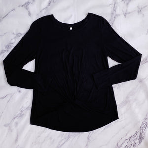 Z Supply black knot top size L NWT