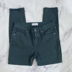 Loft double frayed hem ankle jeans - My Girlfriend's Wardrobe York Pa