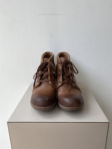 Clarks Collection brown leather heeled booties size 6.5 NEW - My Girlfriend's Wardrobe York Pa