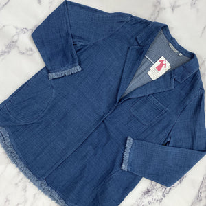 Soft Surroundings chambray cardigan NWT