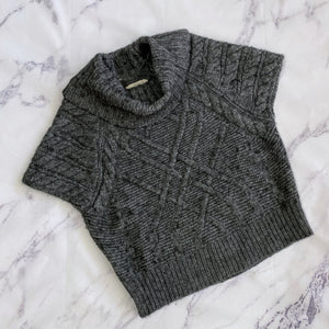 Loft dark gray short sleeve sweater - My Girlfriend's Wardrobe York Pa