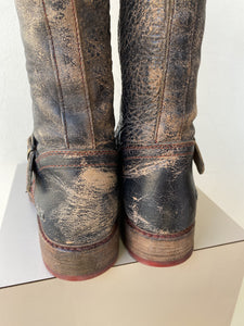 Bed Stu distressed leather tall boots size 9.5 - My Girlfriend's Wardrobe York Pa