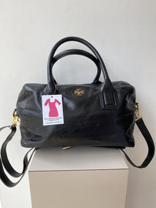 Tory Burch black domed satchel - My Girlfriend's Wardrobe York Pa
