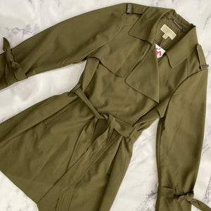 Michael Kors olive trench coat - My Girlfriend's Wardrobe York Pa