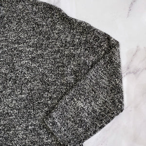 Madewell black and white heathered sweater - My Girlfriend's Wardrobe York Pa