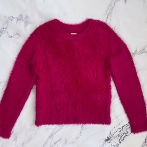 Lou & Grey hot pink fuzzy sweater - My Girlfriend's Wardrobe York Pa
