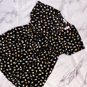 Entro black, cream, and brown polka dot dress size M - My Girlfriend's Wardrobe LLC