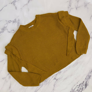 BB Dakota mustard yellow cropped sweater - My Girlfriend's Wardrobe York Pa