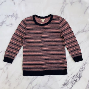 J.Crew navy and pink sweater - My Girlfriend's Wardrobe York Pa