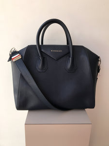 Givenchy navy medium Antigona bag - My Girlfriend's Wardrobe York Pa